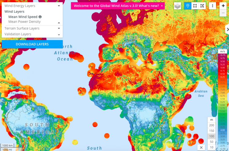 A Brand New 3.0 Version of the Global Wind Atlas Has Just Been Released