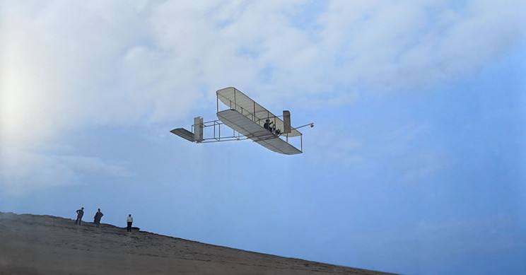 Wright Brothers and Their First Powered, Controlled Flight