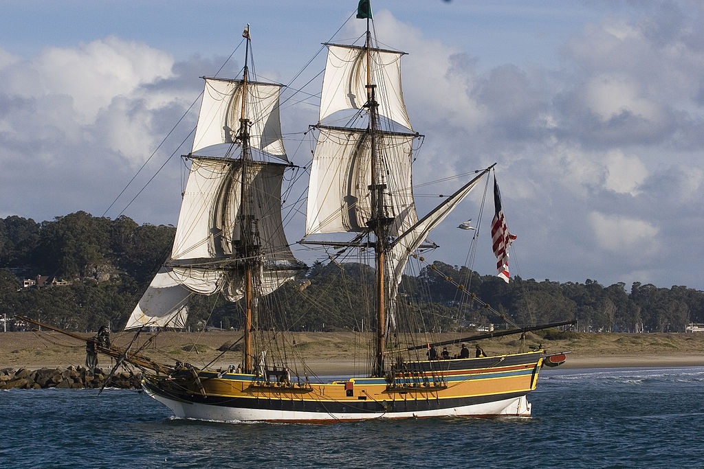 Lady Washington ship or the HMS Interceptor