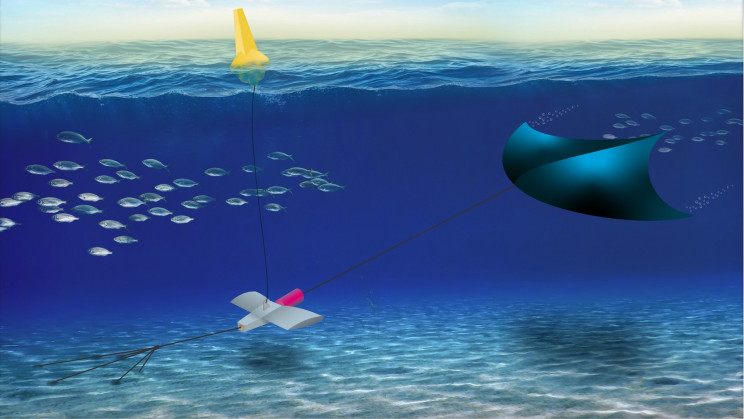 Underwater Kite Draws Energy From Tides and Currents