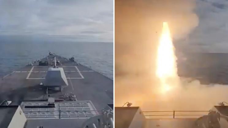 US Navy Destroyer Hit 250-Mile-Away Target Using Drones