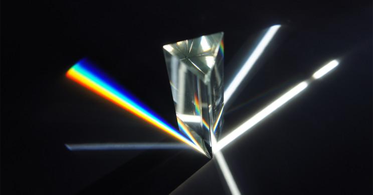 Prism Dispersing Light Into A Color Spectrum