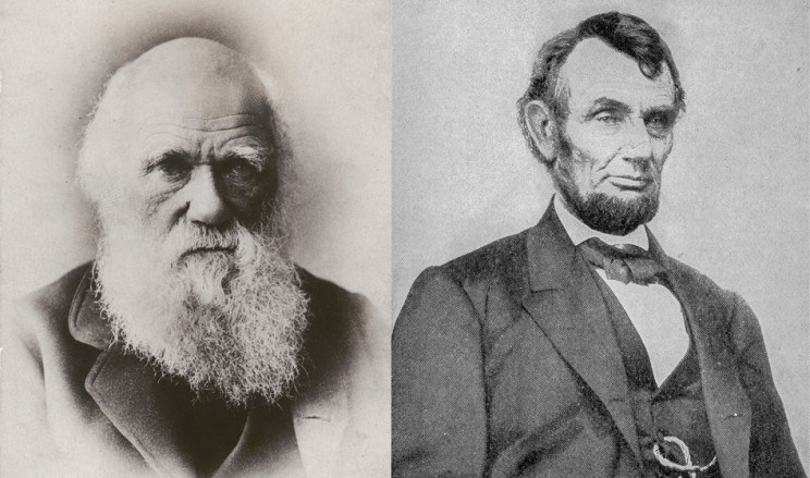 Charles Darwin and Abraham Lincoln