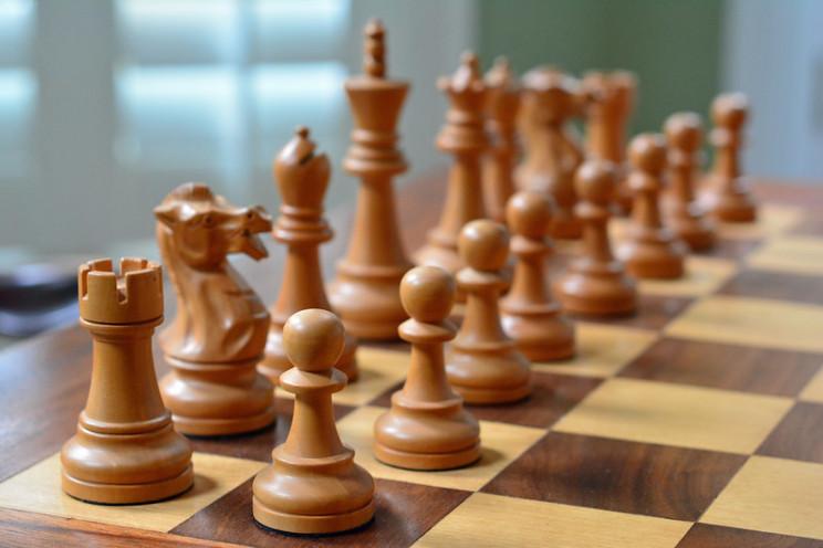 queens gambit chessboard