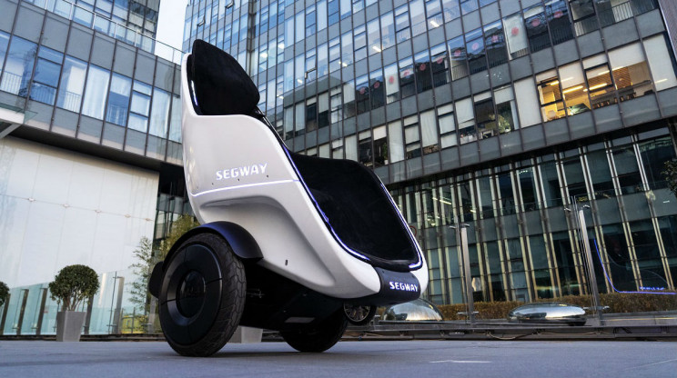 Segway unveils electric pod that looks more like an egg-shaped wheelchair