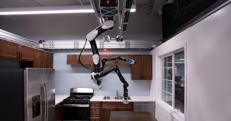 Toyota's New Butler Robot Hangs From the Ceiling