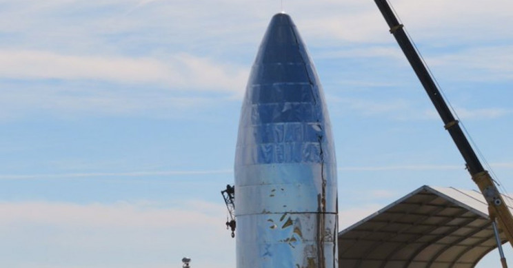 SpaceX's Prototype Starship Mk1 Receives Its Last Steel Dome