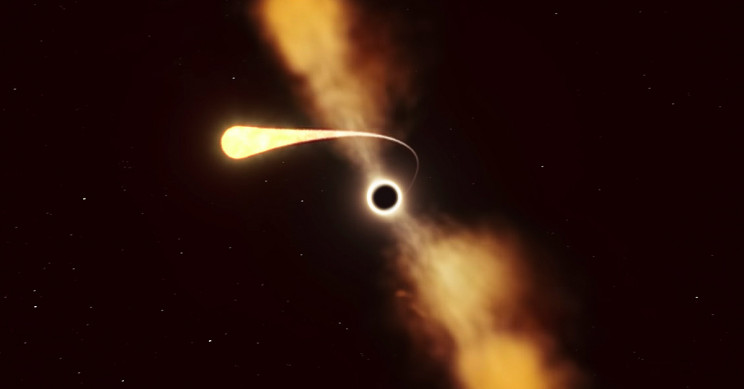Astronomers witness star being 'turned into spaghetti' by black hole