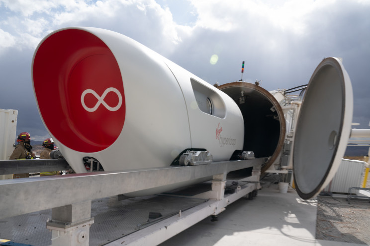 Virgin Hyperloop's First Ever Two Passenger Test Is a Success