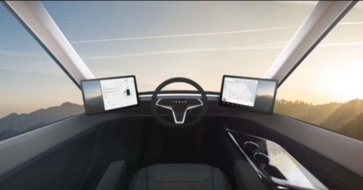 Telsa Semi Cockpit