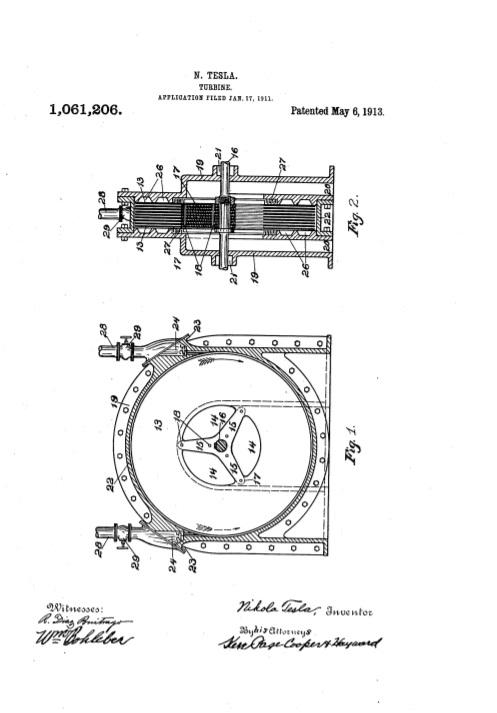 Nikola Tesla last patent