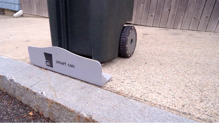 New Automated Trash Can Drives Itself to the Curb on Trash Day