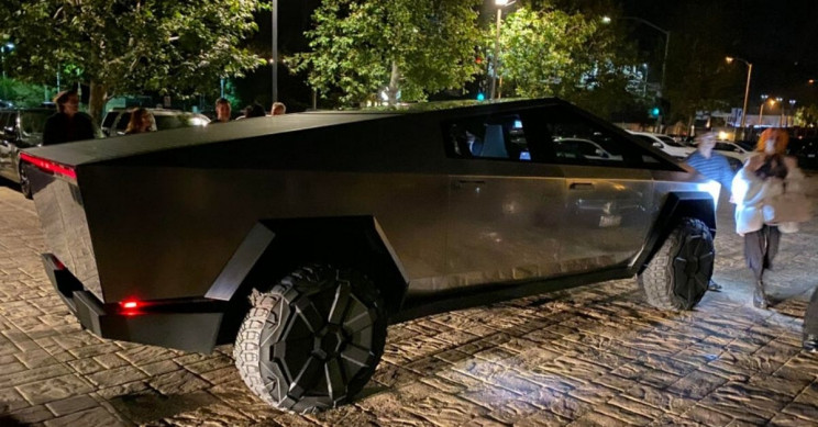 Elon Musk Spotted with His Wild Cybertruck in Malibu