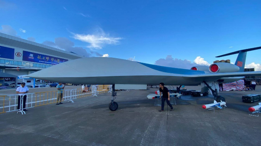 China Unveils Gigantic New Electronic Attack Jet CH-6