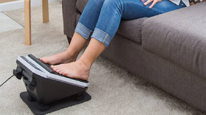 Get the Best Foot and Calf Massage Ever with the Footvibe Deluxe Massaging Footrest