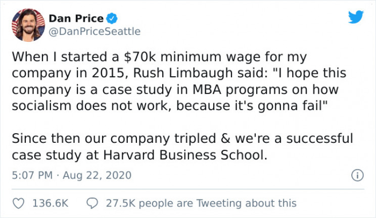 CEO Who Put All Employees on $70k Minimum Salary Explains How It Went
