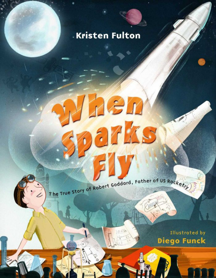 STEM books spark fly