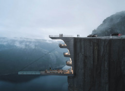 Stunning Design for Norwegian Cliff Hotel has Craziest Glass-Bottom Pool Ever