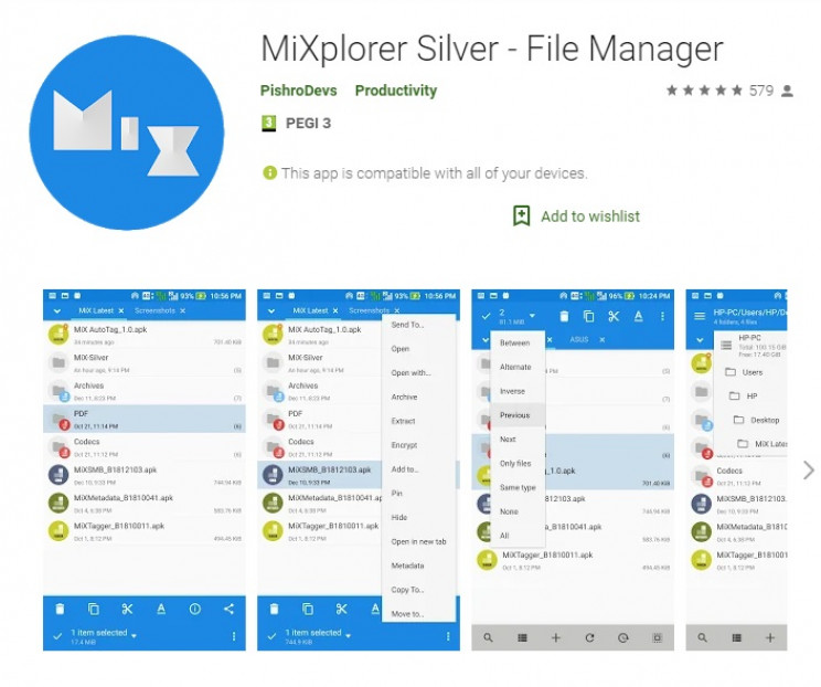 best google apps mixplorer