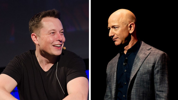 Elon Musk Will Send Jeff Bezos a Silver Medal and a Giant Number 2 Statue