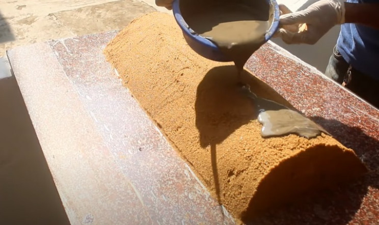 diy desk waterfall cylinder of sand