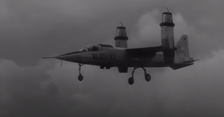The Vertical Takeoff of EWR VJ 101C Fighter Prototype in 1963