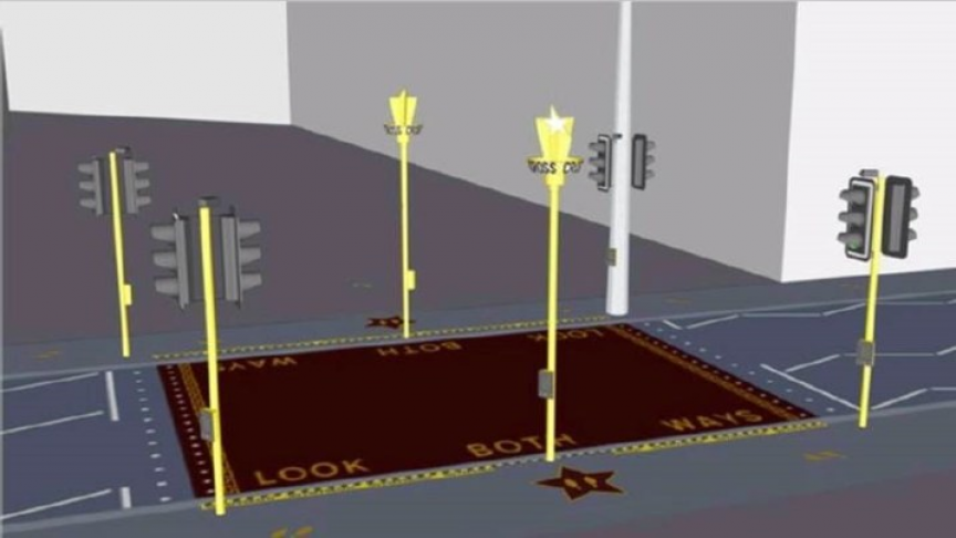 Image of article 'Red Carpet' Crosswalks on Trial in UK to Reduce Pedestrian Accidents'