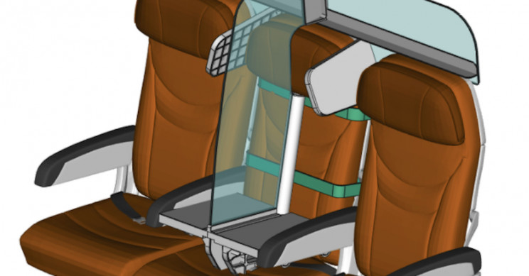 New Physical Distancing Seat Concept Proposes a Protective Way to Fly
