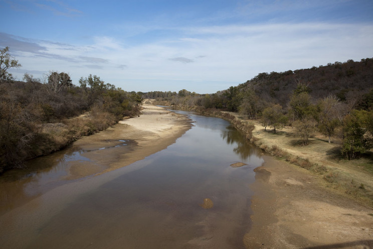 rivers drying up brazos