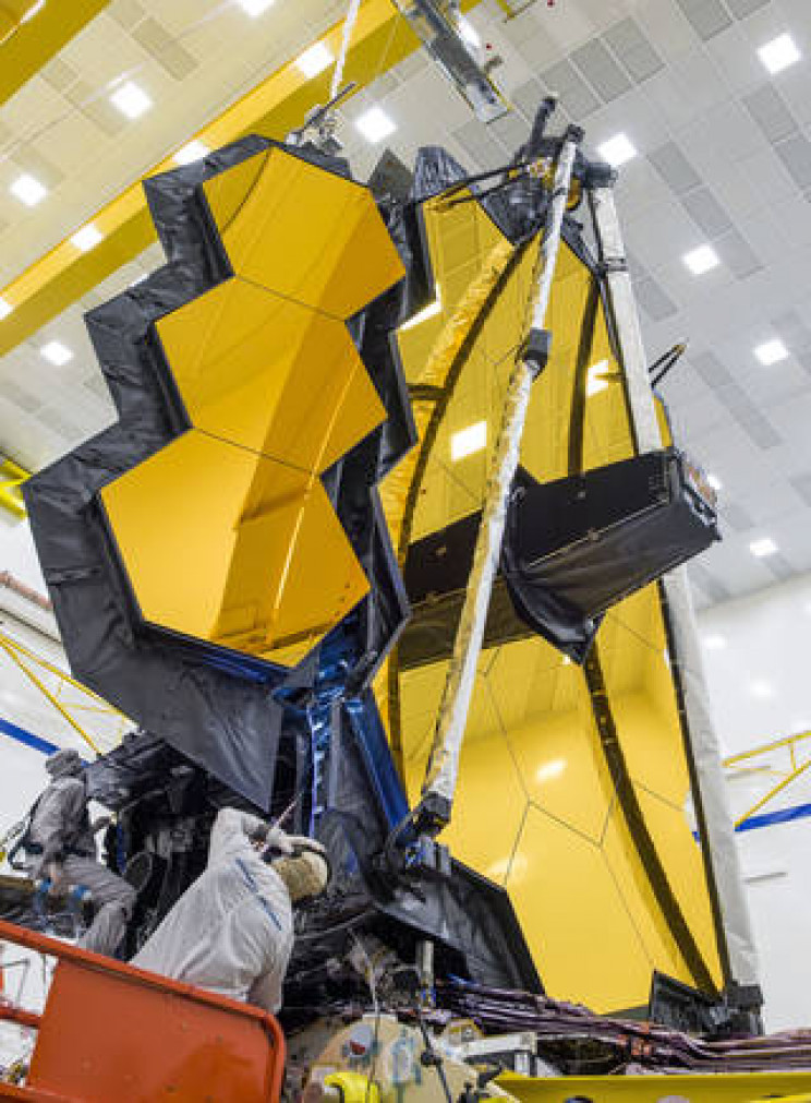NASA Deploys Its Gigantic James Webb Space Telescope Mirror for the First Time