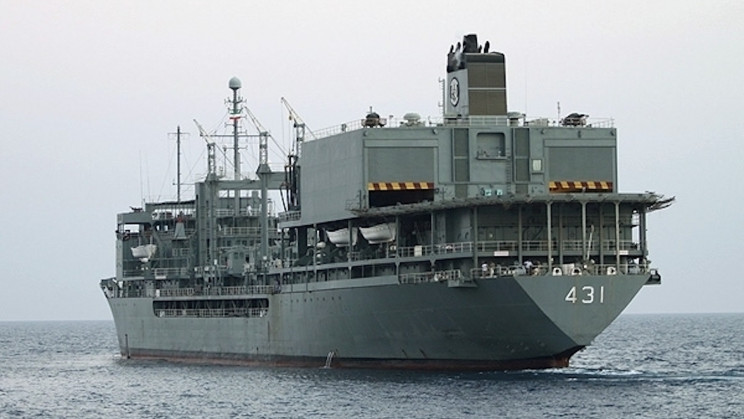 Iran's Largest Warship Sinks After Fire in the Gulf of Oman