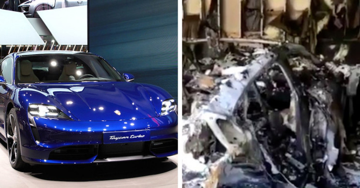 Porsche Taycan Catches Fire and Burns to a Crisp in Owner's Garage