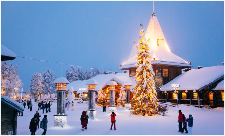 The Christmas Season Officially Opens in Rovaniemi, Finland, Santa Claus Broadcasts His Annual Speech