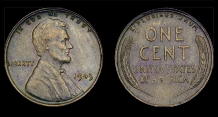 1943 Lincoln Head Copper Penny