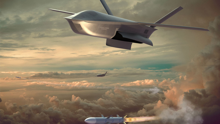General Atomics Unveils Aircraft-Launched Combat Drone Rendering