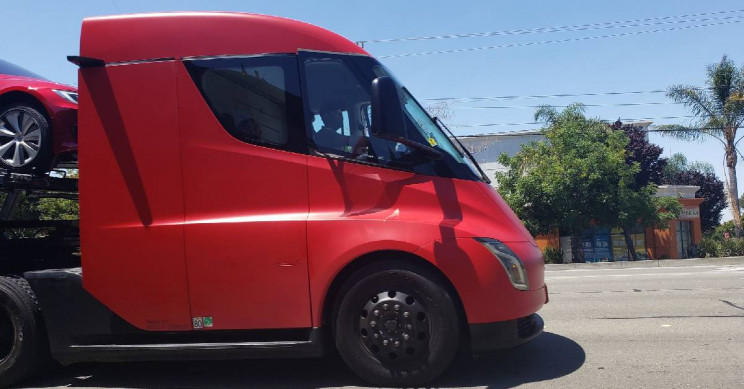 Tesla Uses Its Semi Prototype Truck To Deliver Vehicles