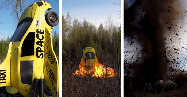 Finnish Demo Team Blew Up 'Rocket Car' With 70 Kilograms of Dynamite