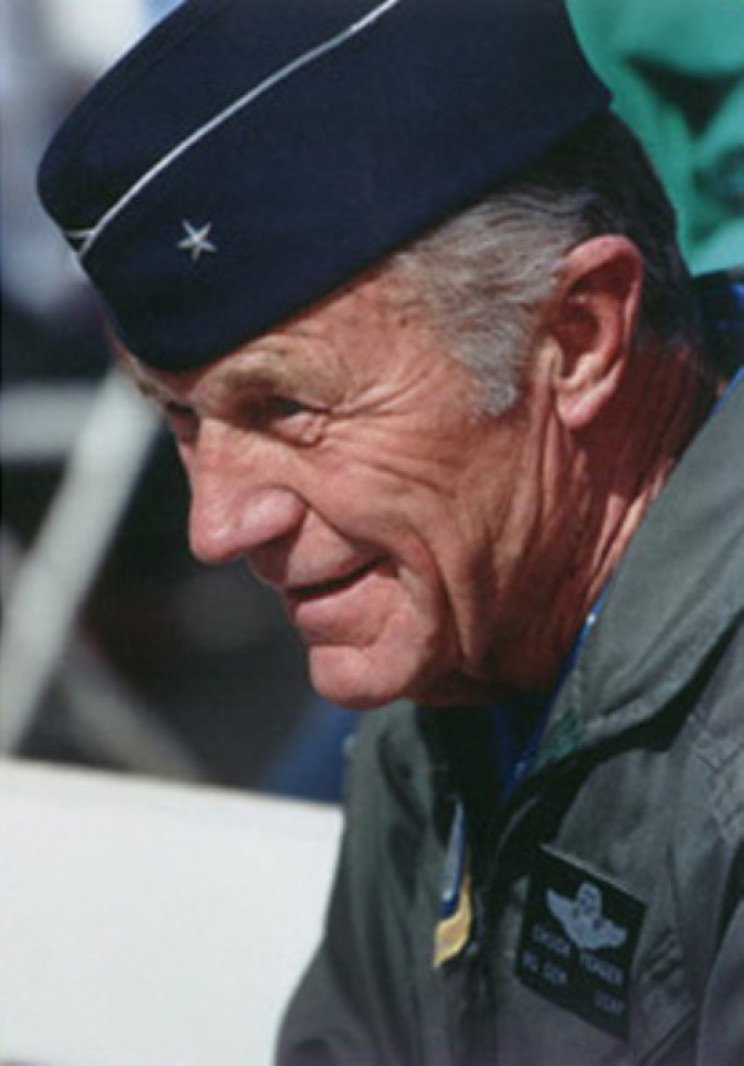 Chuck Yeager in 2000