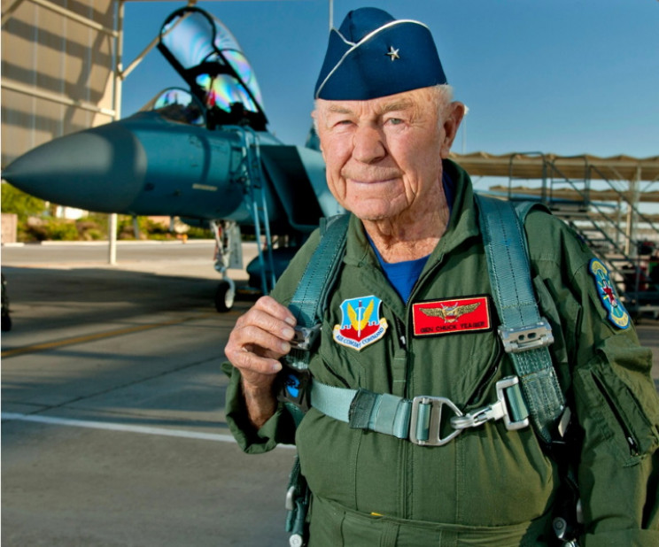 Chuck Yeager MD F-15 Eagle flight