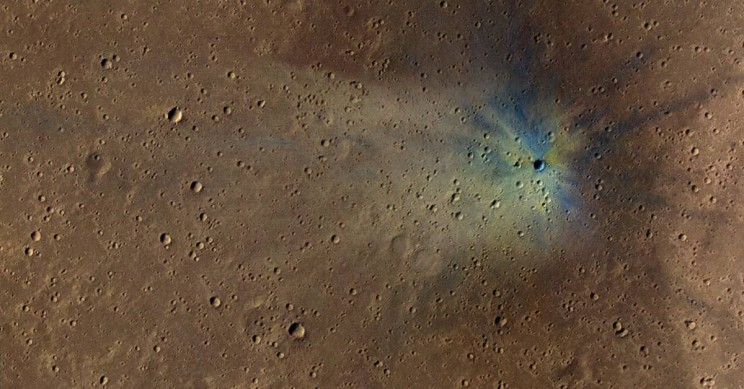 Crater on Mars Methane