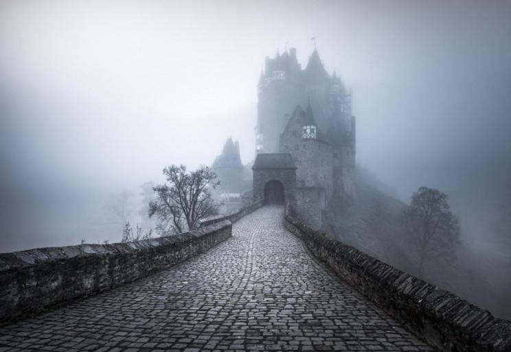 evil looking building eltz castle