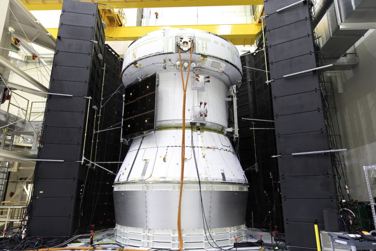 Orion's Service Module Completed Acoustic Testing Last Week