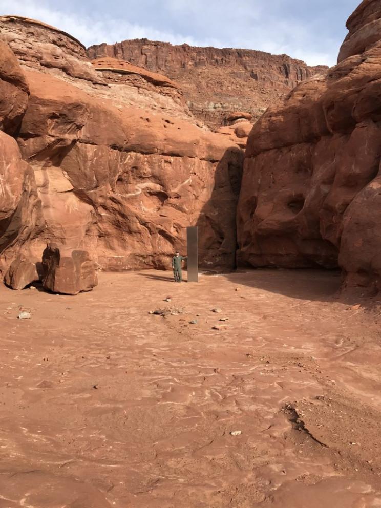 Scientists Find Mysterious Metal Monolith in Utah Desert