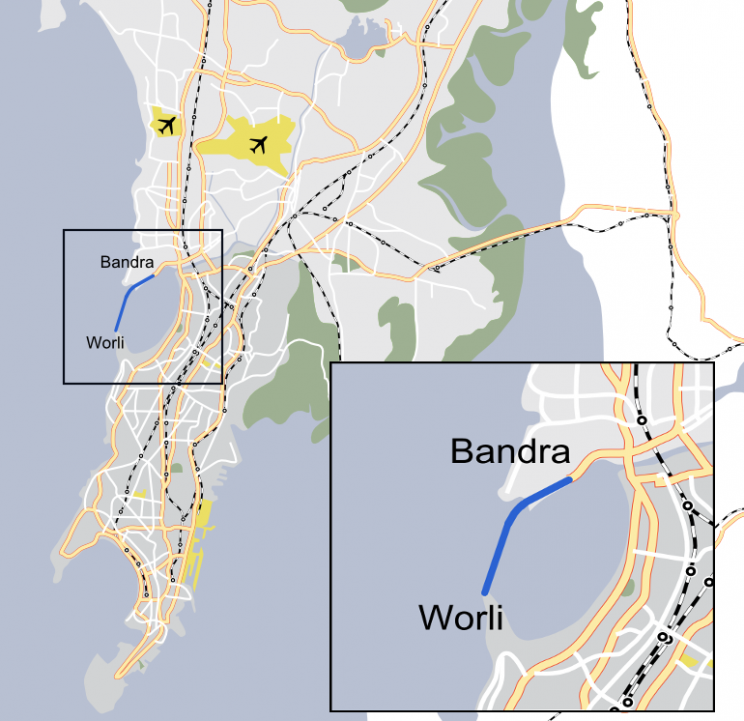 depiction of the Bandra-Worli Sea Link