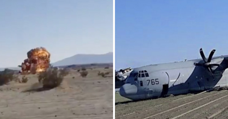 US Fighter Jet Collides with a Tanker, Blows up in Flames