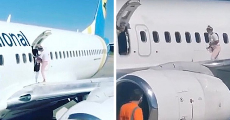 Woman Goes for a Walk on Boeing 737's Wing to Get Some Air