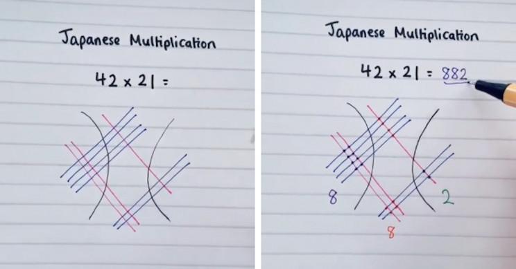 TikToker Shows Unorthodox Method of Japanese Multiplication
