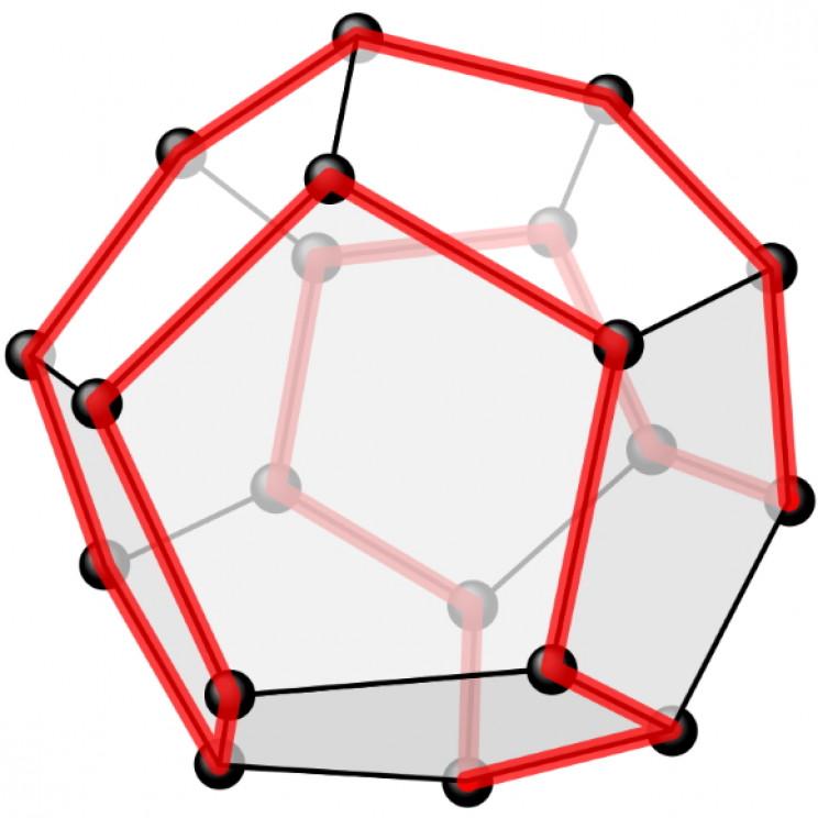 Hamiltonian path around a dodecahedron