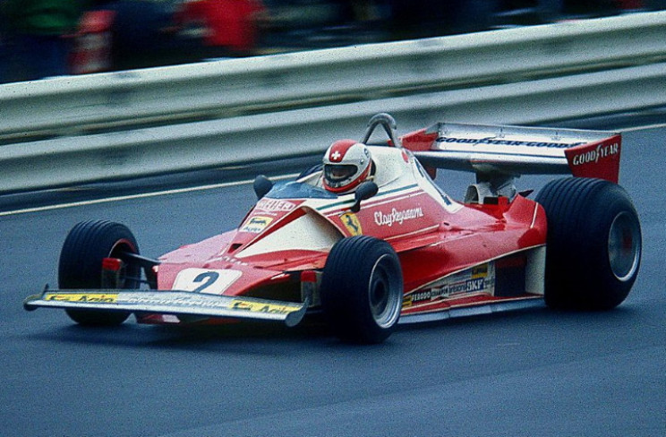 Clay Regazzoni driving for Ferrari at the 1976 German Grand Prix