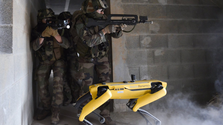 French Army Trains Spot the Robot Dog for Field Combat